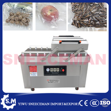 DZ-600 automatic stainless steel dry-wet food vacuum sealing machine commercial double room cooked vacuum sealing machine