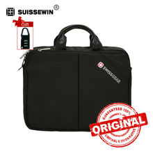 "Swiss Laptop Briefcase For Classic Black Nylon 14"" laptop Bag Multifunctional Shoulder Bag Portfolio Male Bag SA1108(China)"