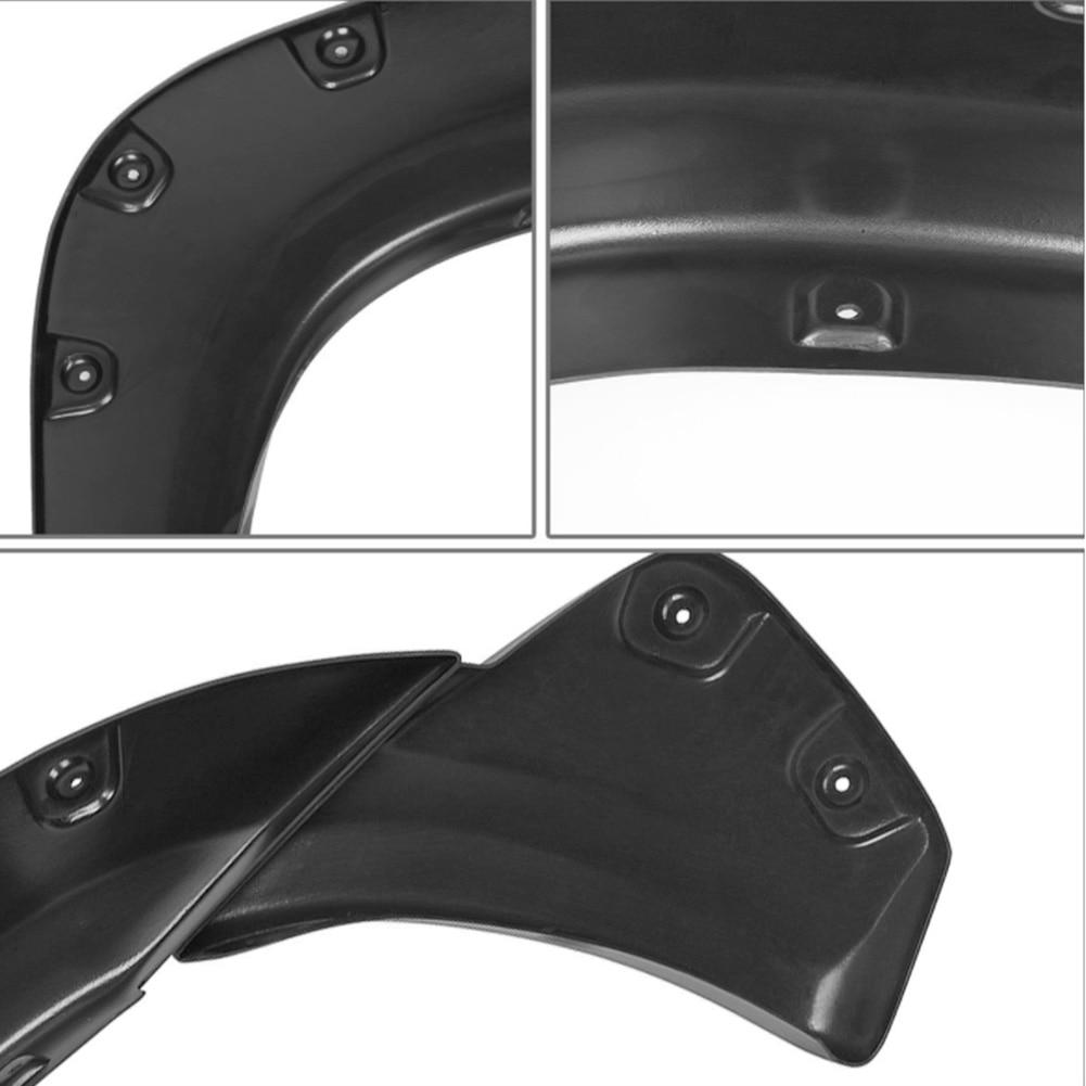 Pocket Style Bolt On Rivet Fender Flares Wheel Eyebrow Fender Flares Cover Guard Mudguards Protector Trim Kit