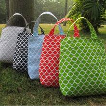 Wholesale Blanks Quatrefoil Car Trash Bag Canvas Material Car Organizer Tote Ready in Stock DOM103126