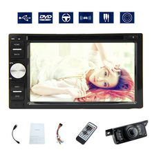 "Double 2 Din Car Radio CD DVD Player Audio MP5 6.2"" HD Digital Touchscreen Head Unit Subwoofer Bluetooth USB SD Stereo Camera(China)"