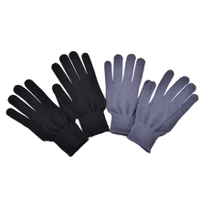 New Arrival 1 Pair Hair Straightener Perm Curling Hairdressing Heat Resistant Finger Glove 2 Colors(China)