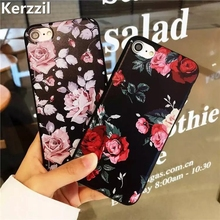 Luxury Red Pink Roses Flower Bud Soft Case For iPhone 7 6 6S Plus Rubber Silicone Cover Back For iPhone 6 7 6S Capa Coque(China)