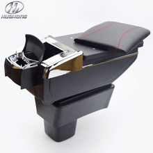 For SUZUKI Swift armrest box central Store content box with cup holder ashtray products accessories 2005-2014