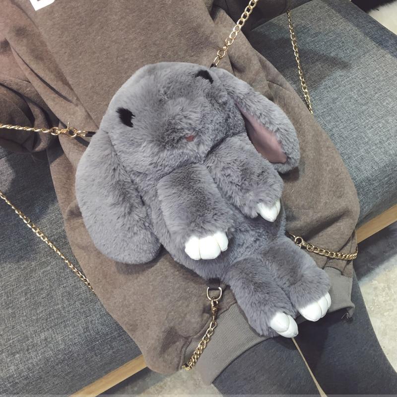 2017 new cute rabbit Bag Backpack possum multipurpose bag chain single shoulder bag backpack lazy Rabbit Plush<br><br>Aliexpress