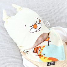 Newest Fox Pattern Baby Hat + Bibs Set Spring Autumn Newborn Crochet Baby Beanie Hat Girl Boy Scarf set Baby Sleeping Cap