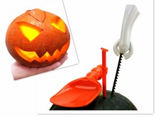 New Set of 5 PCS Children Pumpkin Carving Tools Halloween Stencils Halloween Party Tools Toys&games Pumpkin Kit Tools(China)