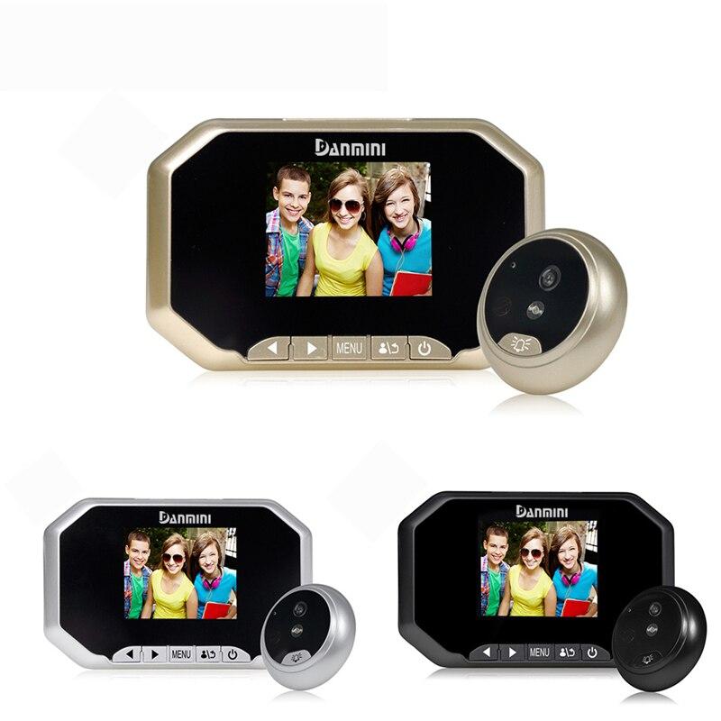 DANMINI 3.0 Color Screen Video Doorbell 2.0MP Digital Door Camera HD LCD Door Eye Peephole Viewer Camera Home Security Doorbell<br>