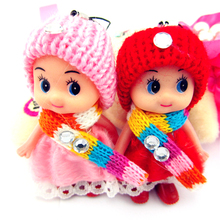cute keychains baby doll Best Promotion Gifts the mobile phone's accessories 50pcs lot sale(China)