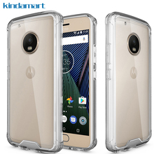 For Moto G5 Plus Case Air Cushion Crystal Frame Clear Hard Back Cover Hybrid Full Protective Case For Motorola G5 Plus G5+ Case