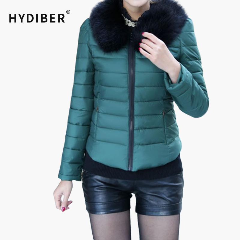 Womens Detachable Fur Collar Cotton-Padded Jacket Winter 2015 Slim Coat Ladies Parka Outwear Casual OvercoatОдежда и ак�е��уары<br><br><br>Aliexpress