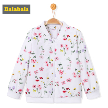 balabala children's jacket Baseball Clothes Baby girls Coats floral pattern Outerwear tracksuit Casual Jackets Infant Children(China)