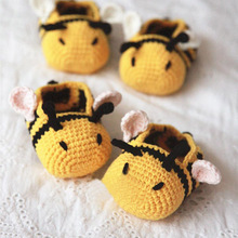 Cute Crochet Baby Booties Shoes For Kids Infant Girls Sapatos Infatil Baby Slofjes Crib Shoes Polo Footwear Items 503142(China)