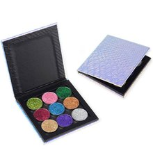 9 Color Diamond Powder Glitter Eye Shadow Palette Shining Eyeshadow Palette Cosmetic Eyes Makeup Fish Scales Eye Shadow Palette(China)