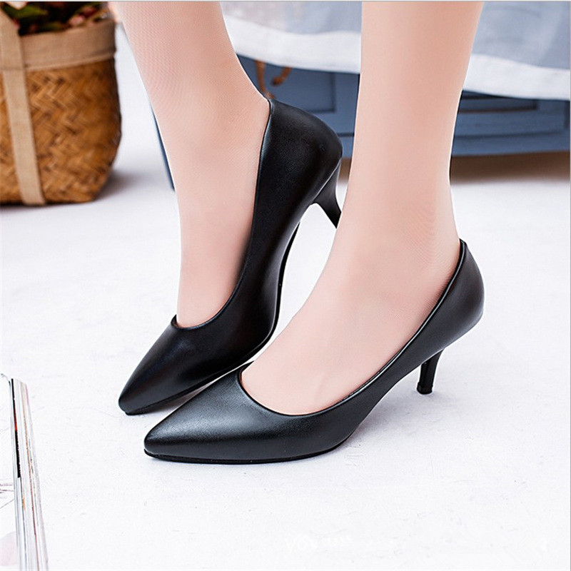 Free shipping spring womens fashion pointed toe brief high-heeled shoes all match shallow mouth work single hoes <br><br>Aliexpress