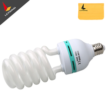 115W 110V E27 Photography  Lighting 5500K Tricolor daylight Studio Video Fluorescent Bulb  Energy Saving Spiral Bulb
