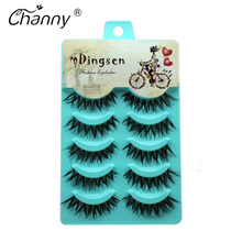 Handmade Eyelashes 5 Pairs/set Extension Thick Long Crisscross Fake False Eyelashes Smoked Makeup Cosmetics for Party