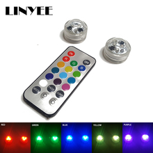 small led Waterproof Submersible led vase light mini led light Remote Controlled party light for weeding party decoration