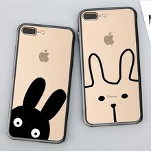 Buy Soft TPU edge+Hard Plastic Back Cover Case Apple iPhone 8 Plus Cases Phone Shell iPhone8 Patterned Rabbit Ears for $1.59 in AliExpress store