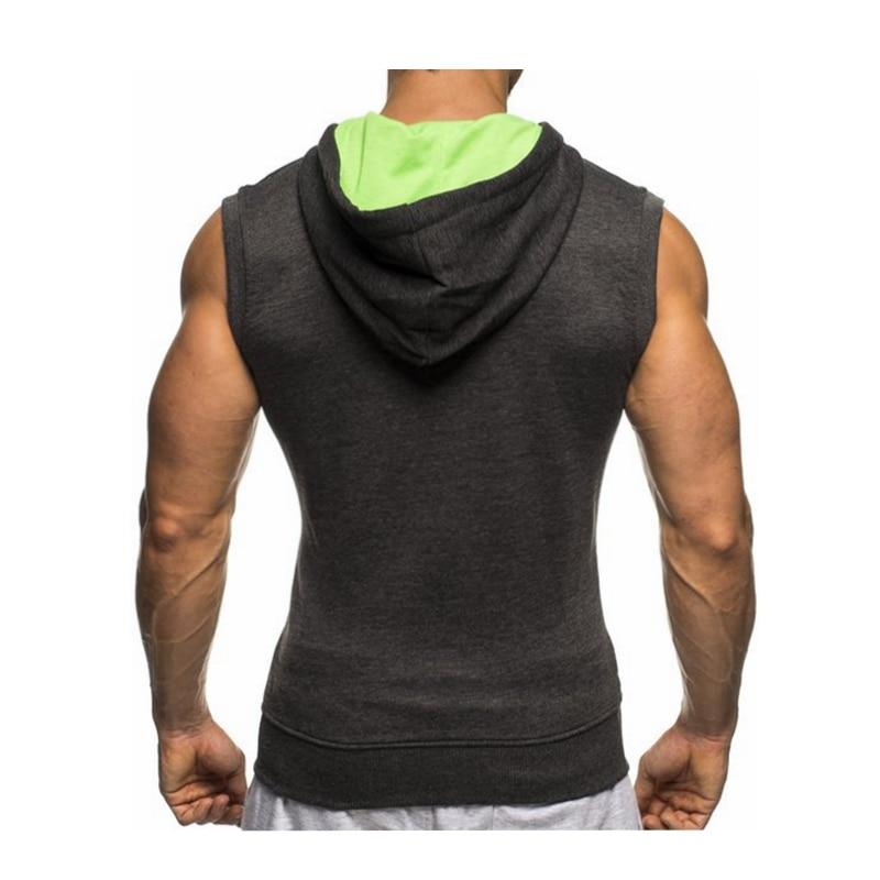 Male Bodybuilding Hoodies Fitness Clothes Hoody Cotton Hoodie Men Sweatshirts Men's Sleeveless Tank Tops Casual Vest 22