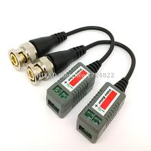 5Pairs Mini Coax CAT5 To Camera CCTV BNC UTP Video Balun Connector Adapter BNC Plug For CCTV System. Free Shipping(China)