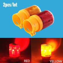 Solar Powered Energy Warning Light LED Safety Signal Beacon Alarm Lamp Solar Traffic Tower Emergency Strobe Red Flash Light(China)