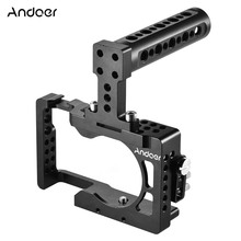 Andoer Video Camera Cage + Top Handle Kit Aluminum for Sony A6500 ILDC to Mount Monitor Tripod Lighting Accessories Film Making(China)