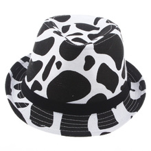 New Top Sale Autumn Spring Outdoor Cap Baby Boy Girl Fedoras Milk Cow Design Dicers Children Photo Photography Props Hat QRD004