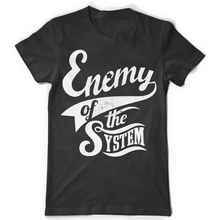 2017 Fashion Fashion Men Printed T Shirts Enemy Of The System Good Quality Brand Cotton Shirt Summer Style Cool Shirts(China)