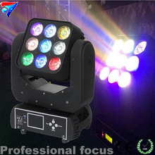 2PCS/LOT 2015 New Product On China Market 3*3 RGBW 4in1 9pcs of 10w LED Matrix Moving Head Light ,beam light