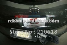 (Free Shipping) LED License Plate Lamp for Nissan FX35 Cefiro Maxima