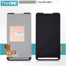 Top Quality Full LCD Display Touch Screen Digitizer Assembly For HTC HD2 T8585 Replacement Parts Free Shipping