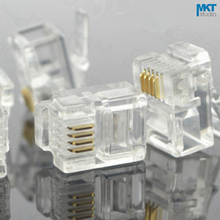 100Pcs 6P4C 6 Pins 4 Contacts RJ11 Telephone Modular Plug Jack,RJ11 Connector