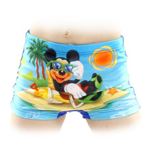 2015 New Summer Diving Swim wear Trunk Cartoon Spiderman spongebob Baby Kid Child Boys swimming trunks children swimwear shorts