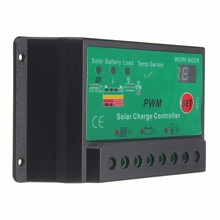 1X PWM LCD Solar Panel Battery Charge Controller Lamp Regulator Automatic 12V/24V 10A Switch Charger