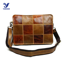 2017 Fashion Genuine Leather Men Clutch Bag for ipad Messenger Bag Brand Design Handbag Patchwork Shoulder Bag Man Crossbody Bag
