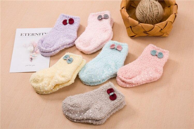 جوارب مبطن للاطفال لشتاء دافئ 1