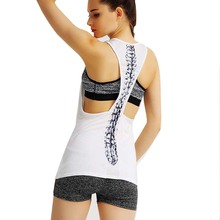 Womens Yoga Shirt Yoga  Sexy Back Top Gym Jogging Vest Female Running Top Woman Fitness Sport  Yoga Clothing G-020