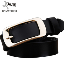 [DWTS] 2016 Women's Buckle belt female pure leather fashion jeans fine leather retro Ladies Belt leather belt women's strap belt(China)