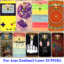 "Cell Phone Skin Case Shell Hood Cover Bag For Asus Zenfone 3 Laser ZC551KL Zenfone3 Laser 5.5"" Cover Hard Shell & Soft TPU Coque"