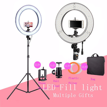 New Designer LED Fill Ring Light 4800LM Total illumination Photo Video Phone Studio LED Micro Ring Lamp With Tripods/Stand