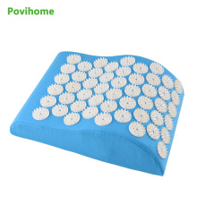 Blue Acupressure Spike Yoga Massage Pillow for Neck Head Massage Pain Relief Stress Relief Health Care C11278(China)