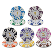 120Pcs/Lot 12 Value 14g/Pcs Casino Poker Chips Coins Texas Poker Jeton Games Poker Chips Set
