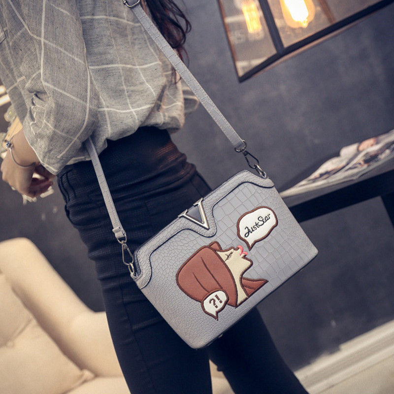 Women Messenger Bags New Cartoon Alligator Crossbody Bag Womens Envelope Leather Handbags Shoulder Bag For Women Bolsa Feminina<br><br>Aliexpress