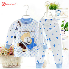 soft Cotton autumn winter Underwear Newborn soft comfortabl baby Sleep wear clothing Set children cartoon Pajamas Suit Long john(China)