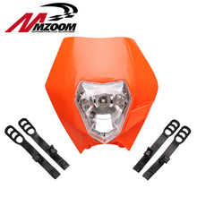 MZOOM Motorcycle Dirt Bike Motocross Supermoto Universal Headlight Fairing KTM SX EXC