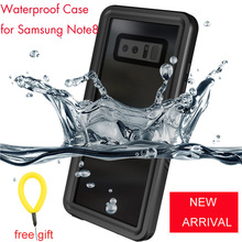 Original Waterproof Case Cover Outdoor Shockproof Case for Samsung Note8 Note 8 Underwater 2mters 30mins(China)