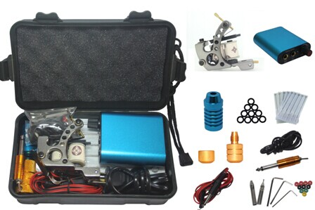 YILONG Tattoo Kit Professional with Best Quality Permanent Makeup Machine For Tattoo Equipment Cheap Blue Tattoo Machines<br>