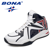 BONA New Classics Style Men Basketball Shoes Lace Up Men Sport Shoes Outdoor Sneakers Comfortable Breathable Fast Free Shipping(China)