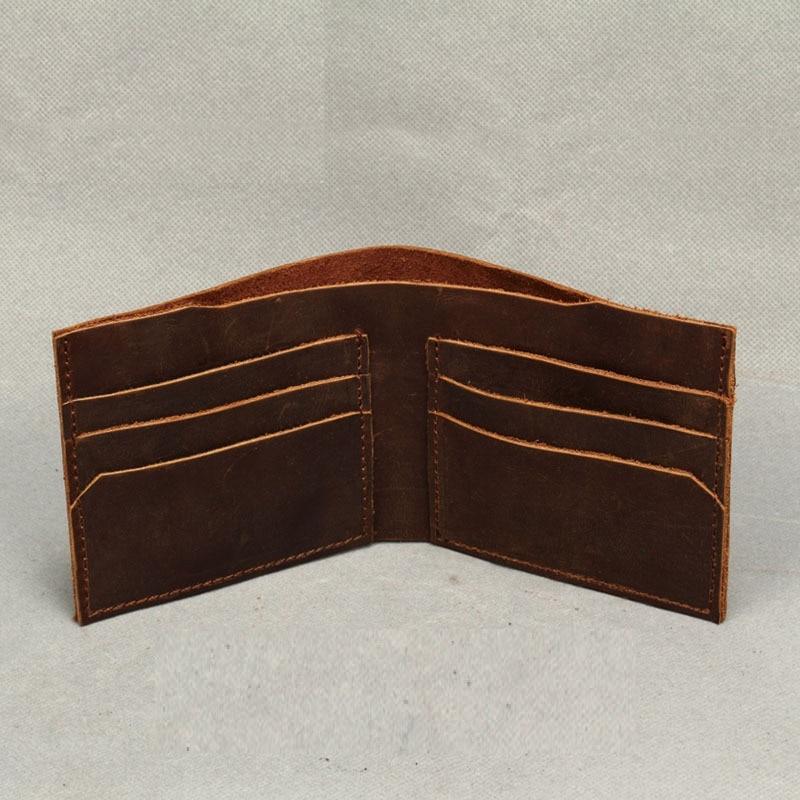New Fashion Vintage Genuine Leather Wallet For Men Handmade Short Wallet Men Purses Wallets Carteira Masculina AWL008C<br><br>Aliexpress